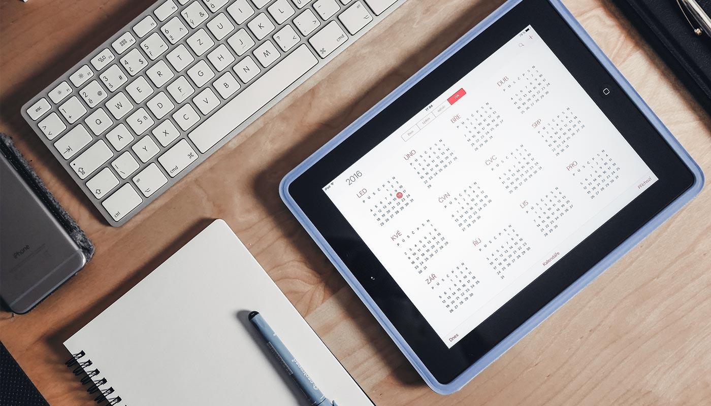 calendario para organizar mi tiempo diario