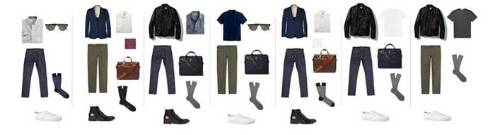 combinando ropa minimalista