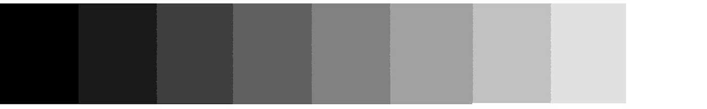 escala de negro y blanco