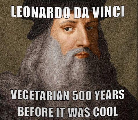 leonardo da vinci era vegetariano