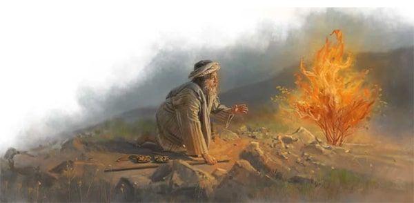 Moisés y Zarza ardiente