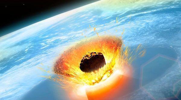 asteroide en la Tierra