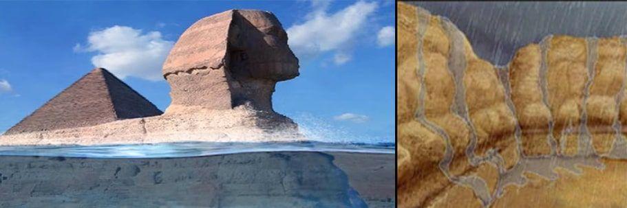 esfinge de Giza erosión agua