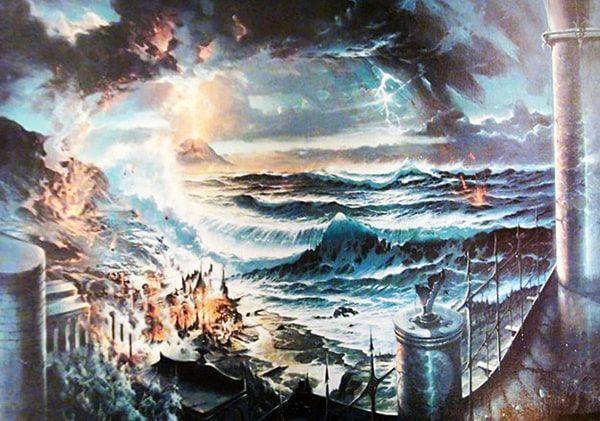 hundimiento de Atlantida