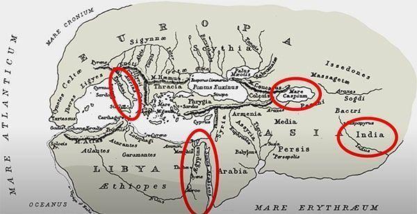 mapa del mundo según Herodoto
