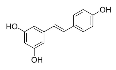 molécula resveratrol