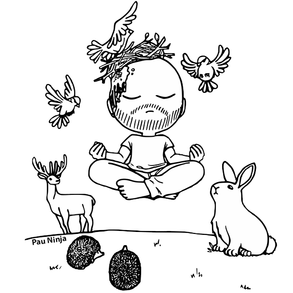 dibujo meditando