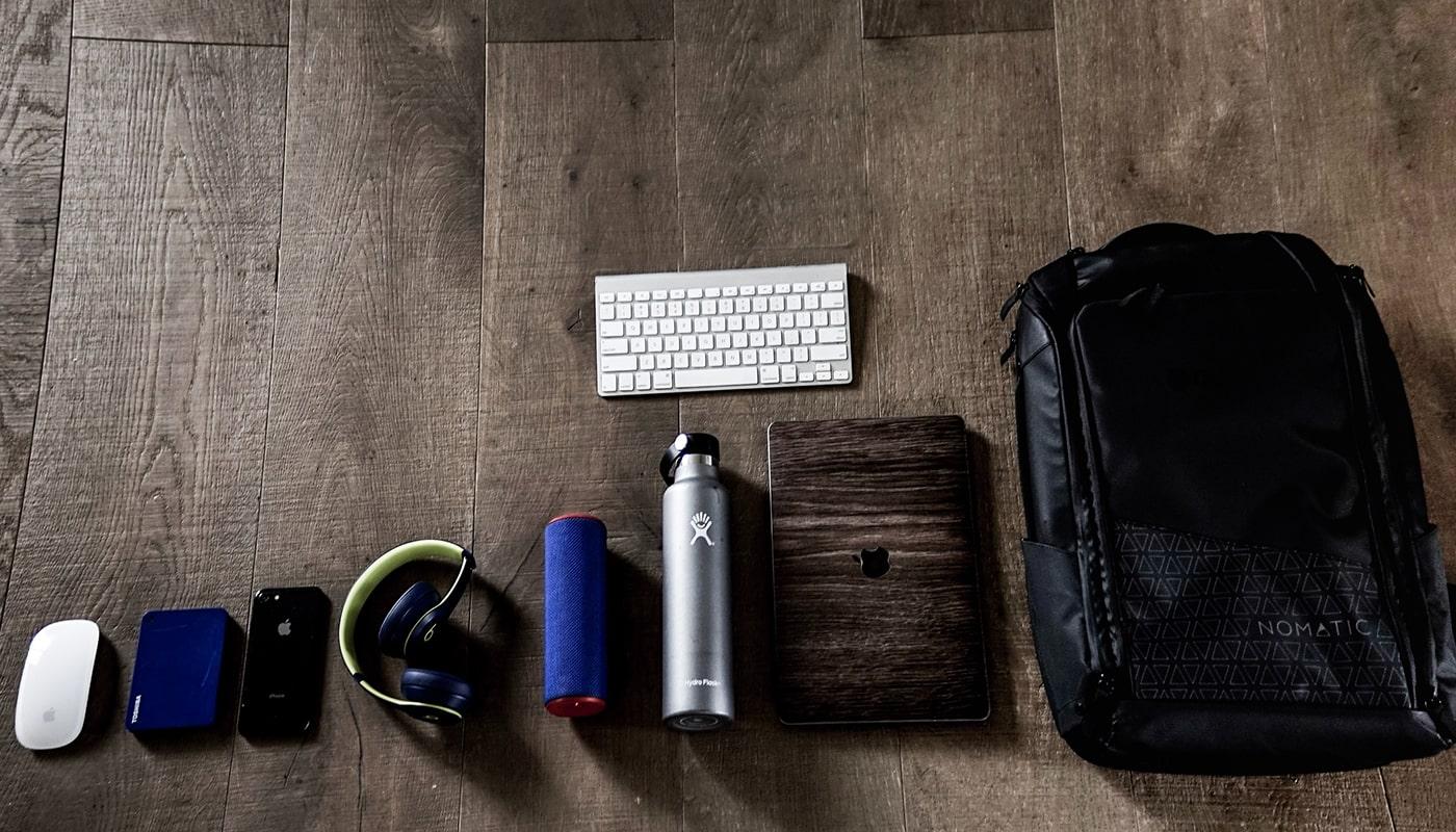 mochila con cosas
